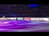 Aleksandra Trusova and Shoma Uno from FJGP2017 gala practice pair cantilever