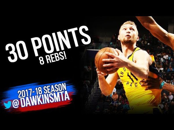 Domantas Sabonis Full Highlights 2018.4.8 Indiana Pacers vs Hornets - 30 Pts,8 Rebs! | FreeDawkins