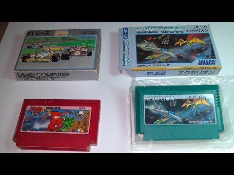 Распаковка геймплеи 3-х игр Ninja Kun Exerion F1 на Famicom Dendy