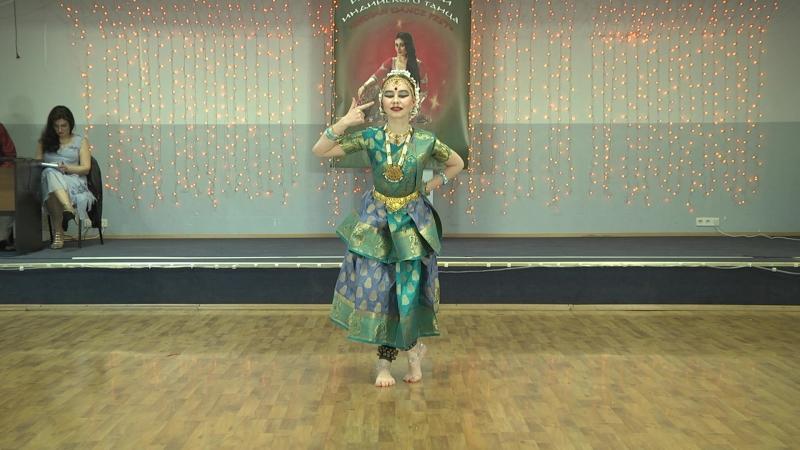 Александра Обертенюк исполняет Шабдам Сараси Джакшулю Бхаратанатьям