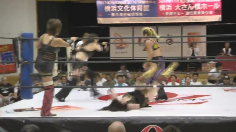 Alex Lee Mayumi Ozaki Yumi Ohka vs Aoi Kizuki Hiroe Nagahama Rina Yamashita OZ Academy Summer Soft Breeze Day 1
