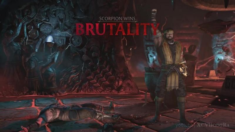 MORTAL KOMBAT X · Scorpion - ALL BRUTALITIES [HD] 60fps - MKX.mp4