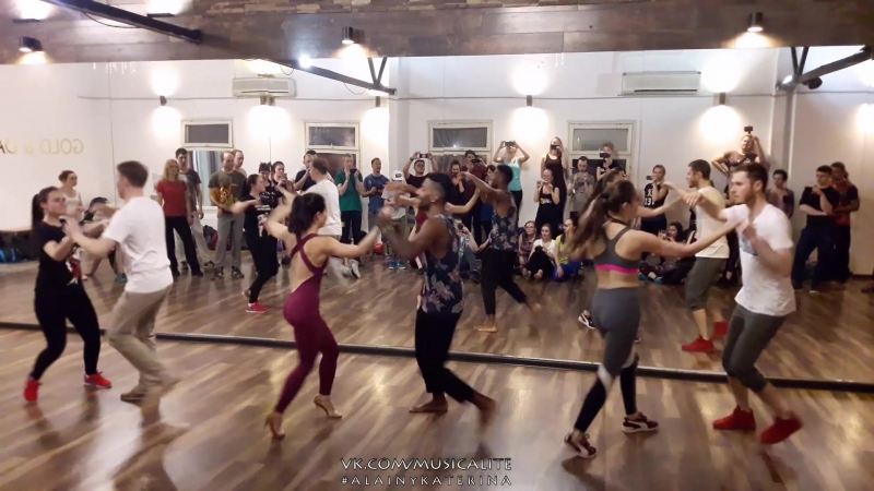Alain Rueda Katerina Mik - Bemba Colora | Timba in action @Entre La Rumba y El Son musicality course | Moscow, Russia 2018