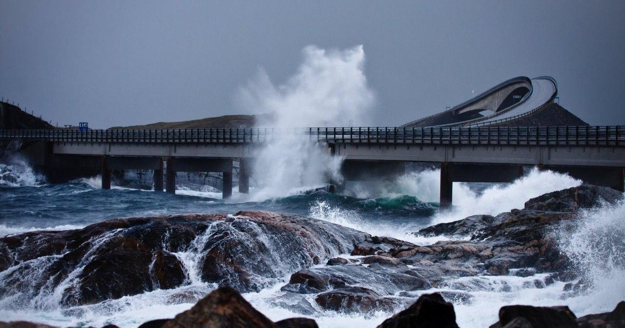 атлантическая дорога норвегия