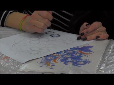 Уроки петриковской росписи от Т Вакуленко