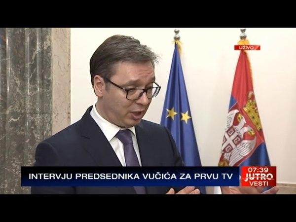Vučić za Prvu: Putin je rekao da je za Rusiju Srbija najvažnija zemlja u Evropi