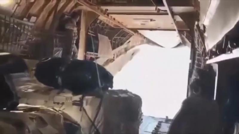 Красавец Су 30СМ заглянул внутрь транспортника Ил 76