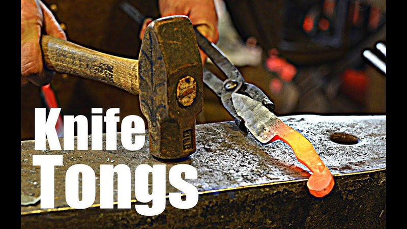 Forging a Pair of Knife Making Tongs