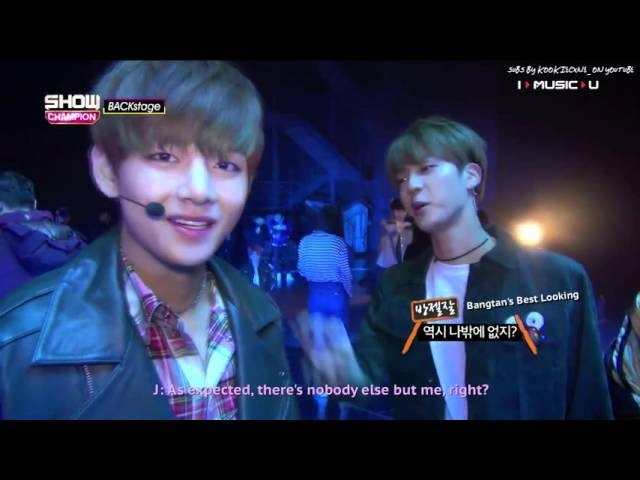 (Eng Sub) 151212 Show Champion Backstage - BTS V Jin Cut 2/2