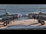 Restored WWII B-17s Memphis Belle &amp Shoo Shoo Shoo Baby