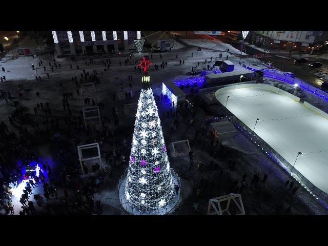 Відкриття новорічної ялинки в Чернігові.
