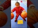 Китайские Минибандиты жонглируют баскетбольными мячами