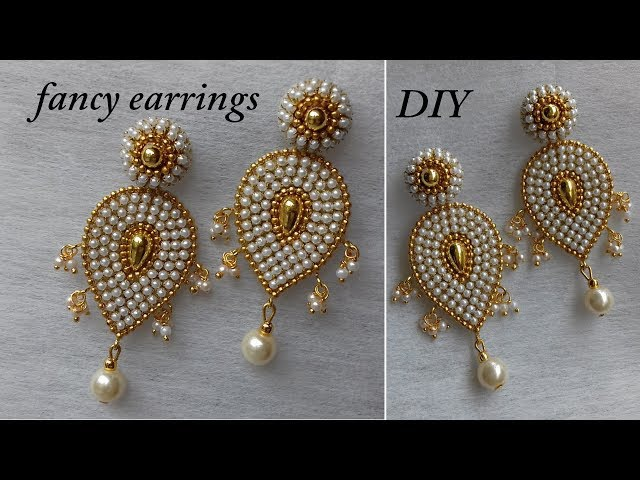 DIY || How to make designer paper earrings at home || fancy designer earrings