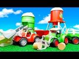 Видео для детей с игрушками - Трактора работают на ферме - Диди тв
