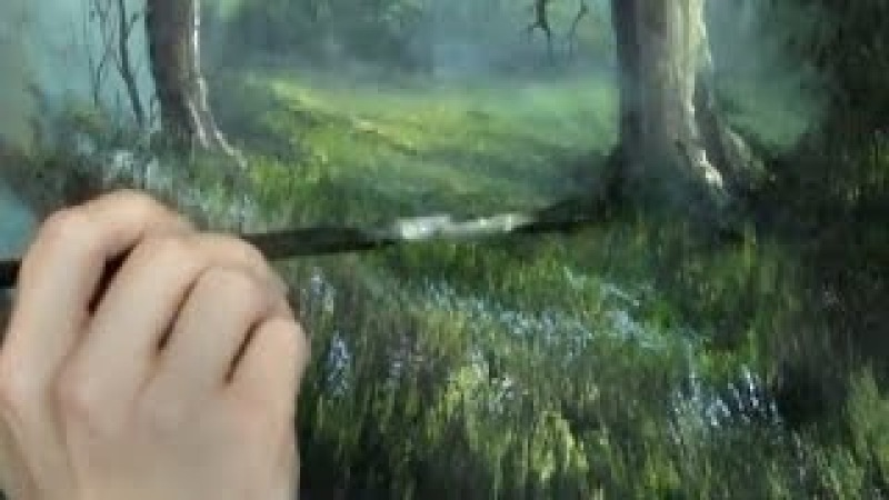 Oil Painting Free Lesson | Fan Brush Tips | Paint with Kevin Hill