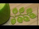Вязание веточки листиков урок вязания крючком Crochet leaf sprigs
