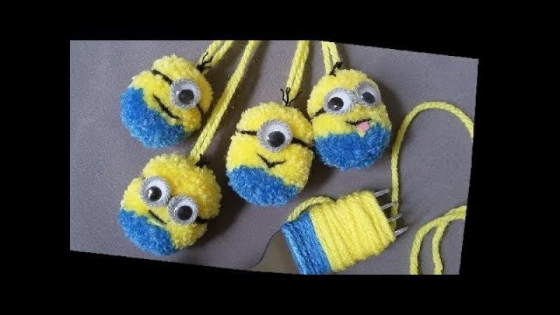 ทำตุ๊กตาปอมปอมมินเนี่ยนจอมป่วน How to Make The Hilarious Minions PomPom