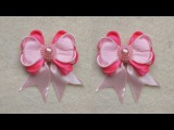 DIY ll Tutorial Bow Kanzashi Flower #2  II Handmade Hokky Craft 04
