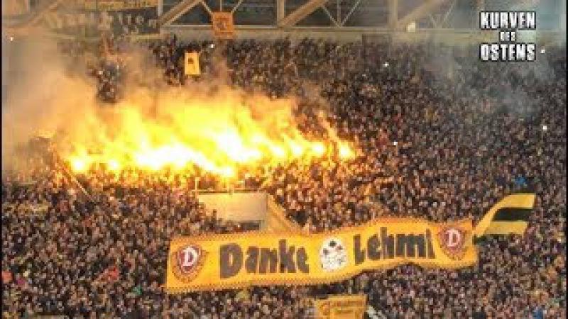 SG Dynamo Dresden 4:0 FC Erzgebirge Aue 03.12.2017   Support Pyro