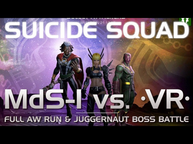 The Suicide Squad: Full AW Run Juggernaut Boss Battle w/ Suicides   Marvel Contest of Champions