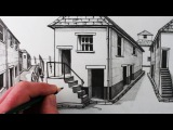 How to Draw a House in 1-Point Perspective Step by Step