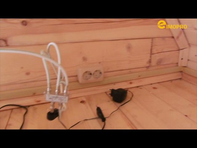 Электромонтаж в деревянном дачном доме из бруса 80м2.