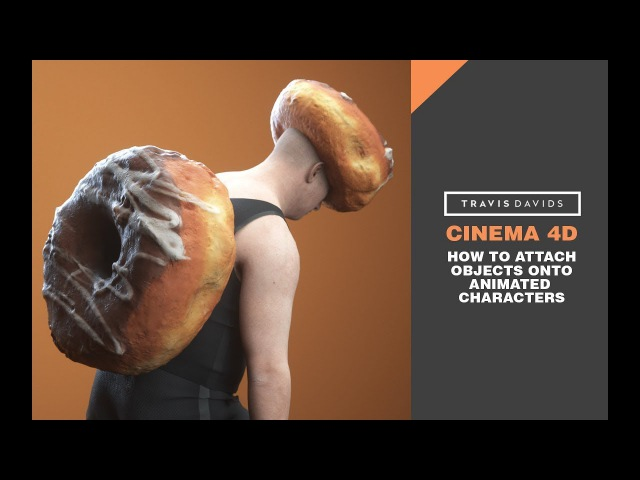 Cinema 4D - How To Attach Objects Onto Animated Characters