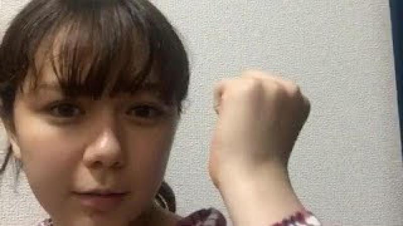 村重杏奈 (HKT48 チームKIV) 2017年10月16日 あーにゃ SHOWROOM 20:07