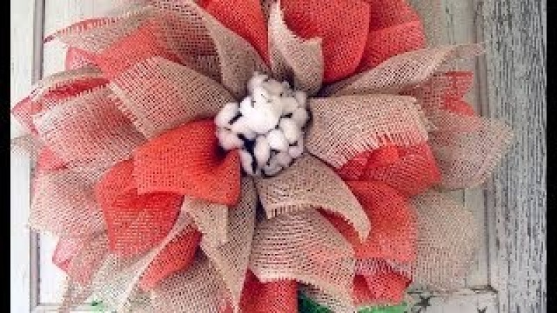Mesh Flower Tutorial with Poly Jute Poly Burlap by Trendy Tree