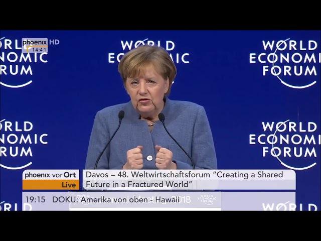 Angela Merkel Europäer sind schuld an allem Weltwirtschaftsforum in Davos
