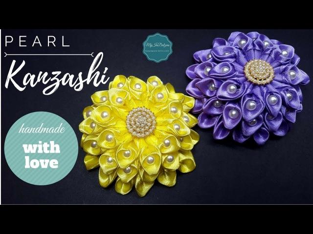 D.I.Y. Pearly Kanzashi Flower | MyInDulzens