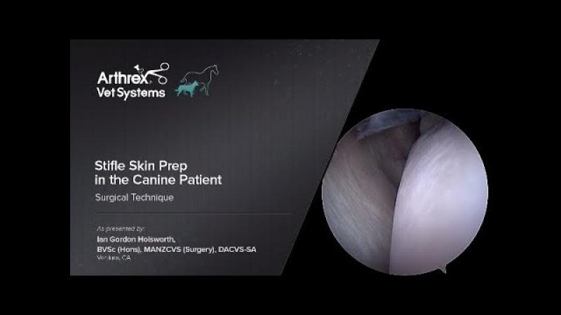 Подготовка кожи тазовой конечности у собаки к артроскопии коленного сустава / Stifle Skin Prep in the Canine Patient