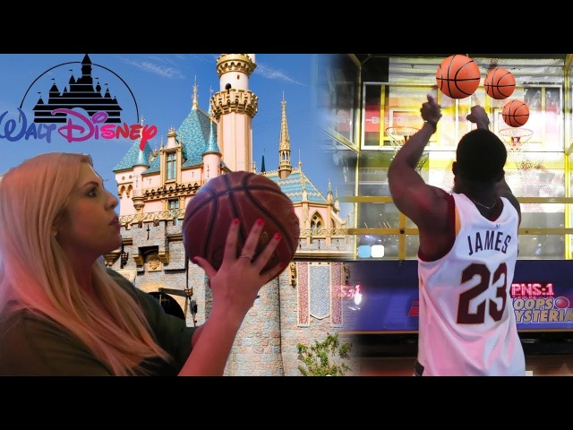 GIRLFRIEND BEAT ME AT DISNEYLAND BASKETBALL SHOOTOUT! EMBARRASING!