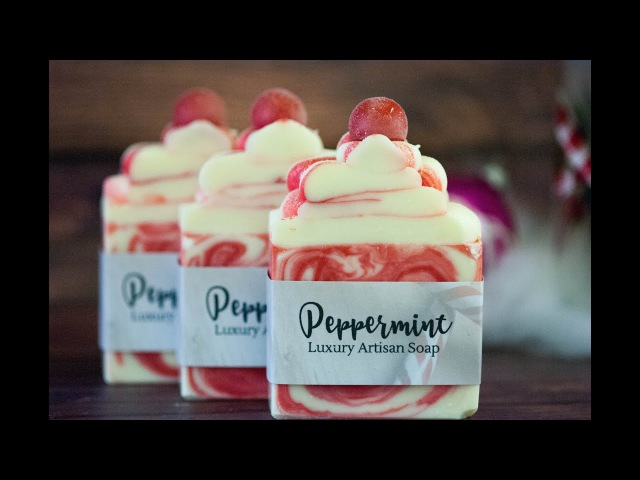 Making and Cutting of Peppermint Handcrafted Artisan Soap