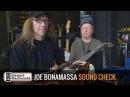 Joe Bonamassa sound check backstage tips
