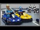 Elsa VS C. America Bumper Car Race Fun Indoor Playground for Kids Jessi and Nick Show