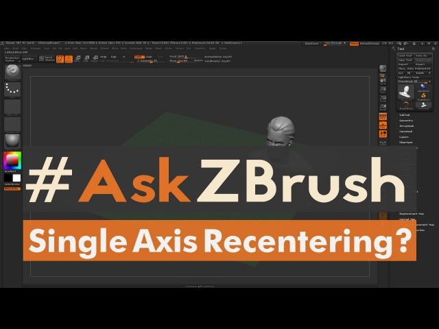 "AskZBrush: ""How can I recenter my subtool in one axis?"""