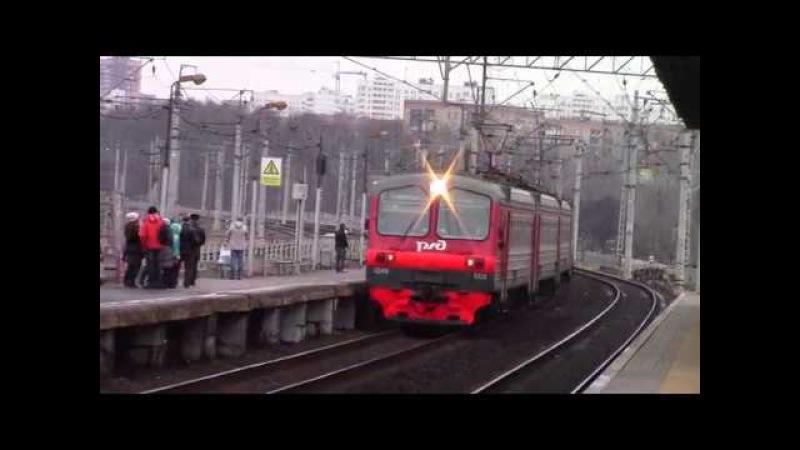 ЭД4М 0322 и ЭП20 004 с поездом Стриж платформа Кучино