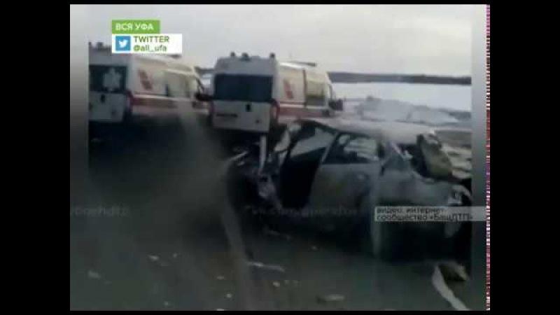 Осадки стали причиной целого ряда аварий с участием нескольких автомобилей в Башкирии