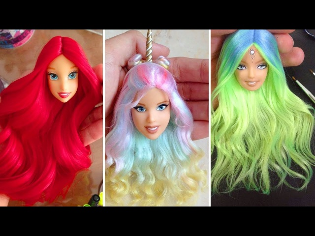 Barbie Doll Hairstyles 2018 👰 How To Make Barbie Hairstyle 👸 New Barbie Hair Transformation