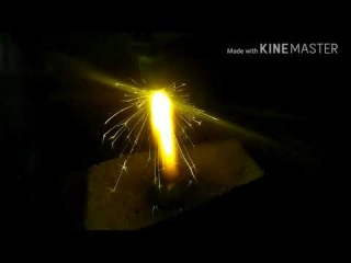познавательное. горение выпускного клапана в кислороде