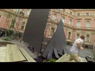 Stage Crew Accidentally Destroys Expensive Screen