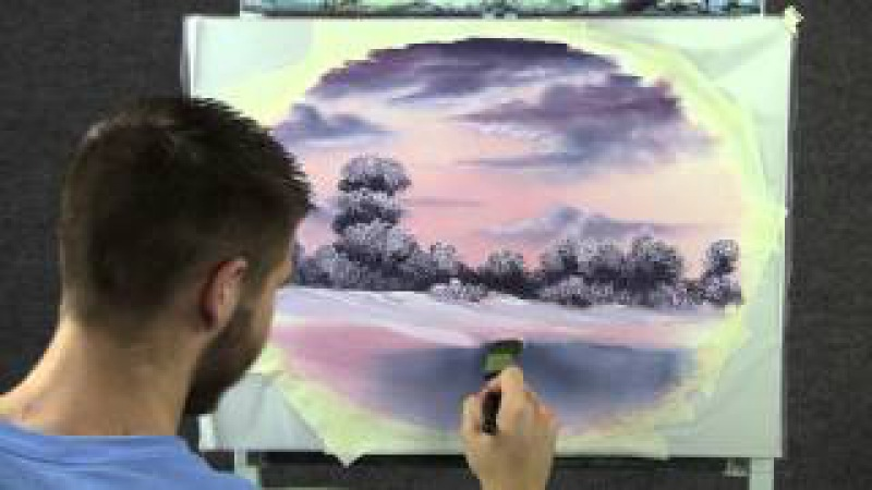 Paint with Kevin Hill - Snowy Sunset wet on wet HD