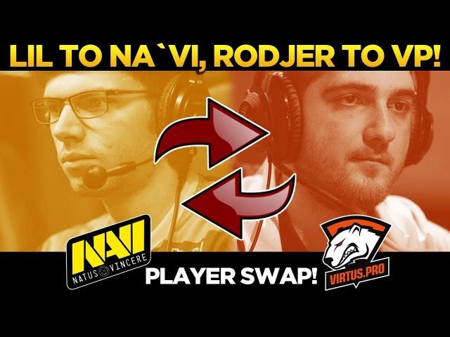 POS. 4 PLAYER SWAP! Lil to Na`Vi, Rodjer to Virtus Pro! Dota 2