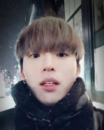 "Jin Park on Instagram: ""dob 디오비 박진 공연 끝나고 가는데 눈 온다❄️ 같이 눈 맞을 사람~~~~"""