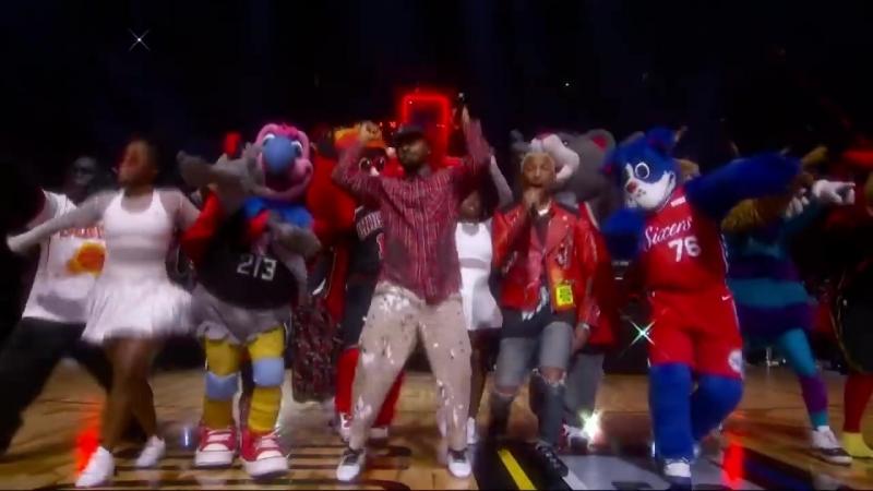 N.E.R.D 2018 NBA All-Star Halftime Performance - Pharrell Migos
