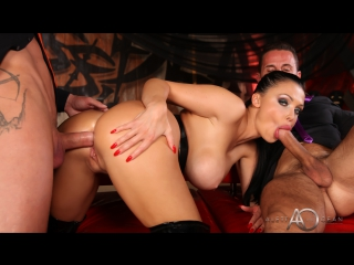 Aletta Ocean - Black Leather Double Pleasure [Gonzo, Anal, DP, Big Tits, Threesome, New Porn 2017]
