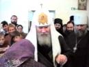 ДАР ИКОНЫ ПРЕПОДОБНОГО СЕРАФИМА САРОВСКОГО ПАТРИАРХУ МОСКОВСКОМУ И ВСЕЯ РУСИ АЛЕКСИЮ II НА МАГАДАНЕ