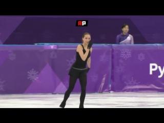 Журналисты засняли фантастическую серию из пяти тройных прыжков Алины Загитовой на тренировке