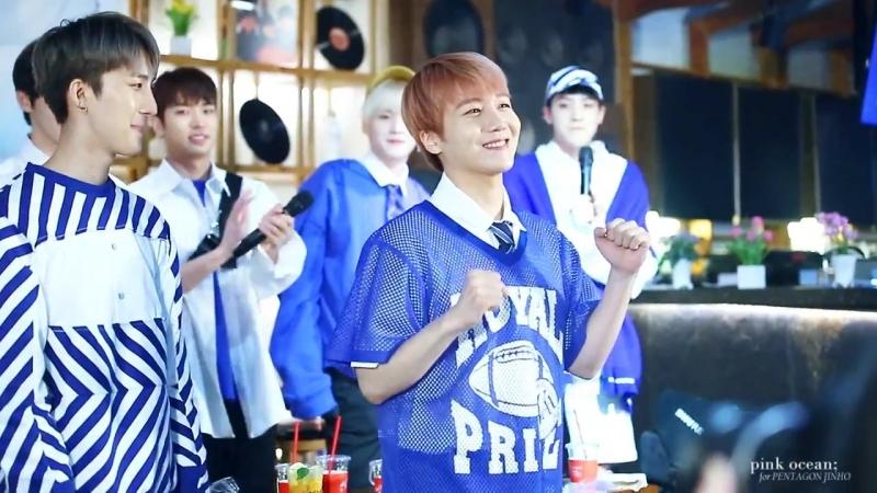 180516 Jinho's aegyo dance @ dal.komm coffee fanmeeting